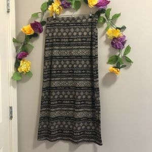U2B Patterned Maxi Skirt - Boho Style